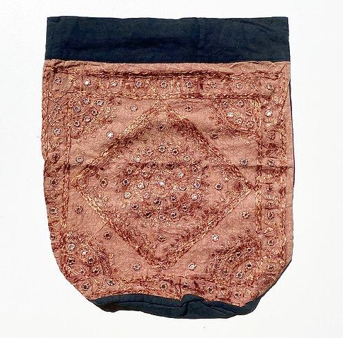 Mocha Embroidered Backpack
