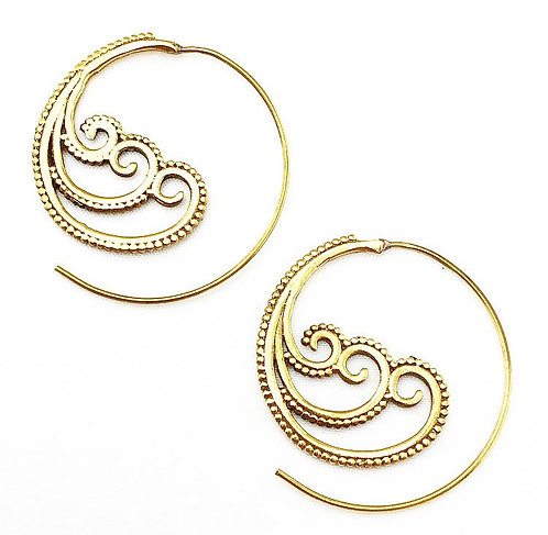 Baga Brass Earrings