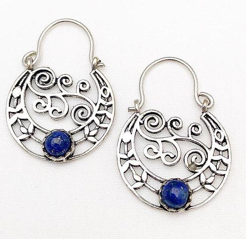Lapis Lazuli Chamelee Earrings