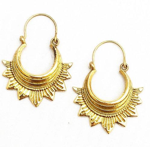 Caranzalem Brass Earrings