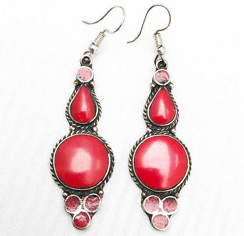 Coral Asru Earrings