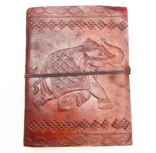 Small Elephant Leather Journal