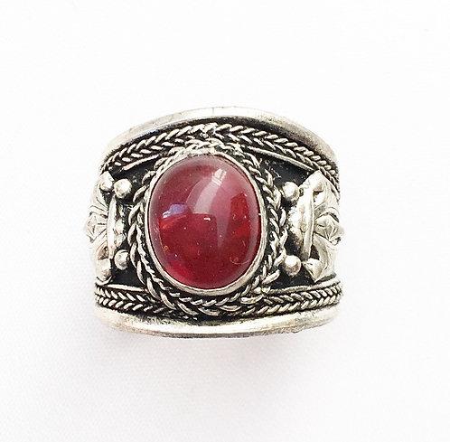Red Jasper Tibetan Ring