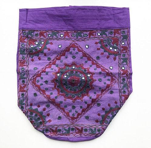 Violet Embroidered Backpack
