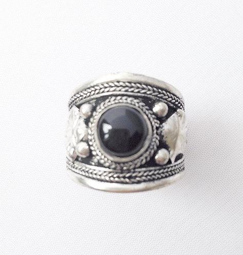Onyx Tibetan Ring
