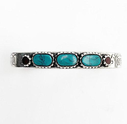 Turquoise 3 Stone Bracelet
