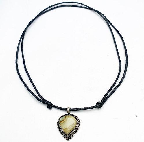 Polychrome Jasper Pendant Necklace