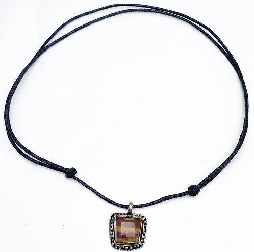 Mookaite Stripe Pendant Necklace