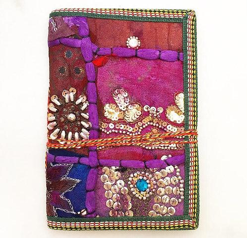 Large Purple Sari Journal