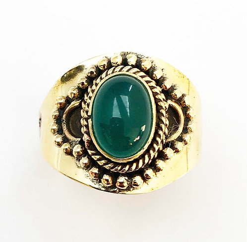 Green Jasper Sajjita Ring