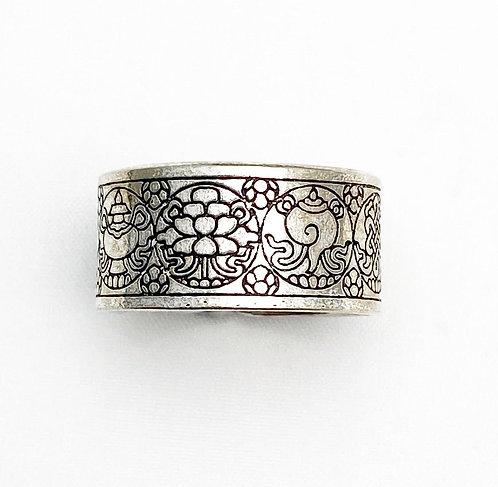 Tibetan Symbols Ring