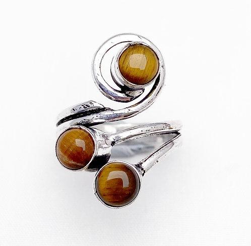 Tigers Eye Sarpil Ring