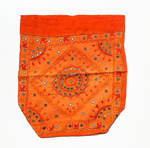 Tangerine Embroidered Backpack