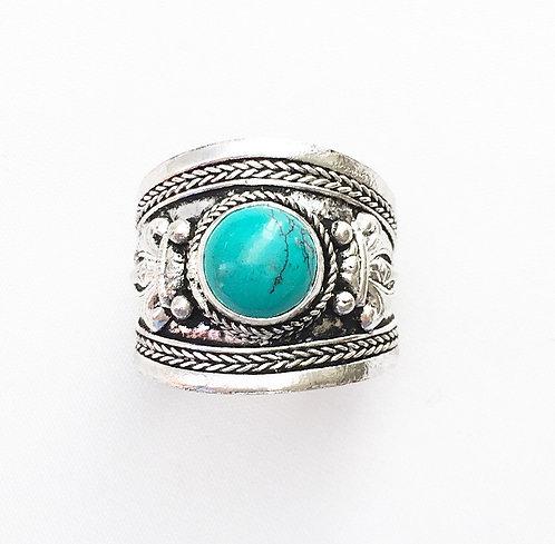 Turquoise Tibetan Ring