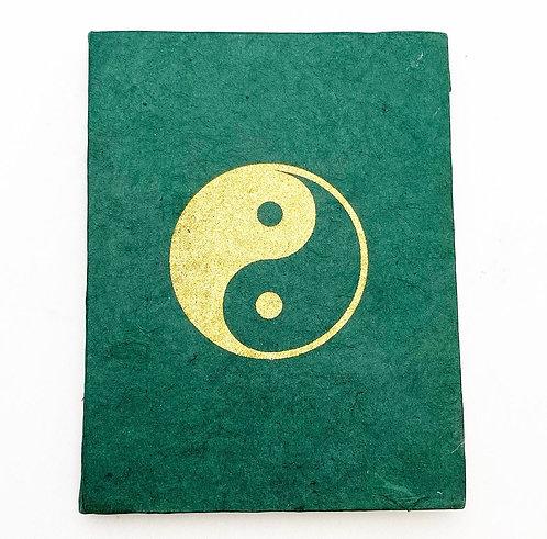 Emerald Yin Yang Symbol Notebook
