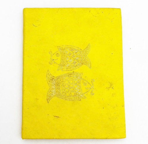 Yellow Golden Fish Auspicious Symbol Notebook