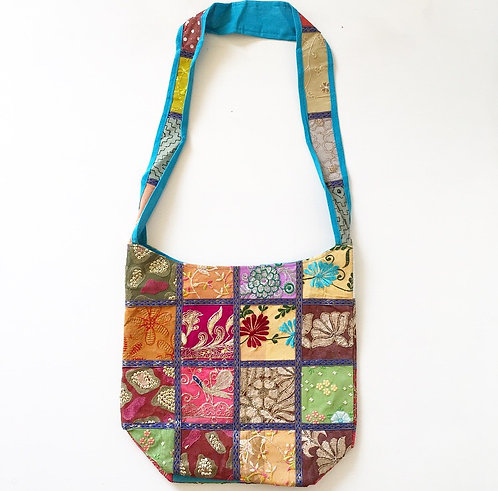 Hyderabad Sari Slouch Bag