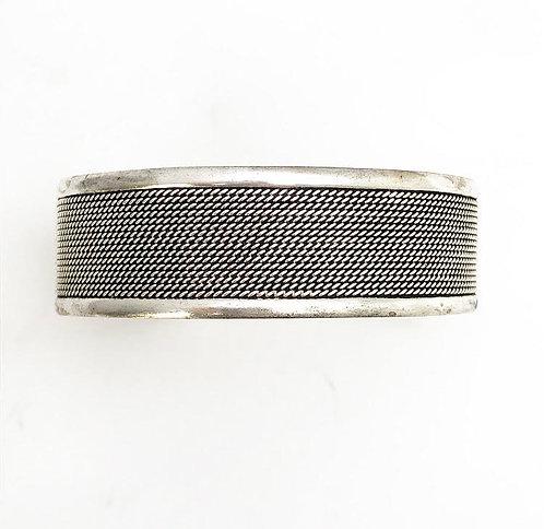 Silver Weave Cuff