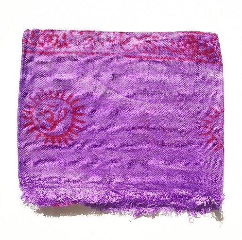 Large Violet Mantra Scarf