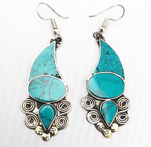 Turquoise Bayana Earrings