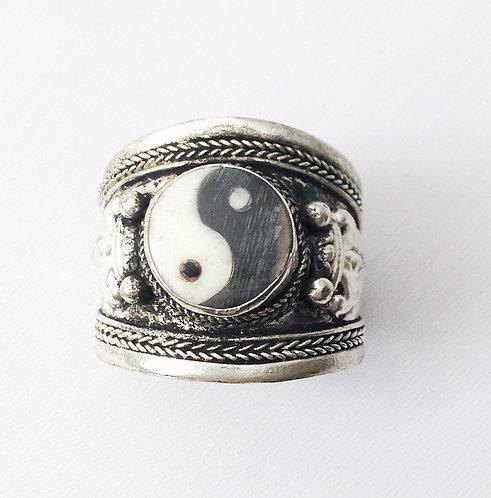 Ying Yang Tibetan Ring