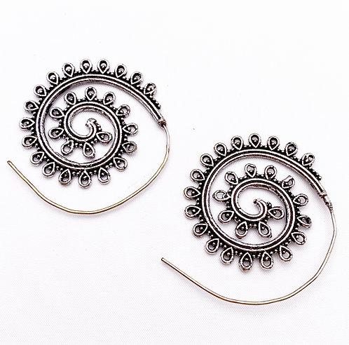 Vagator Silver Earrings