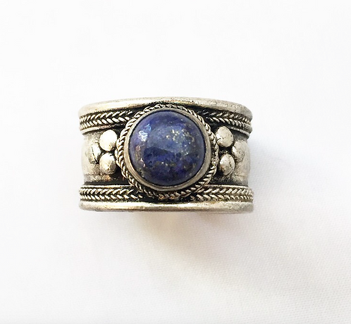 Small Lapis Lazuli Tibetan Ring