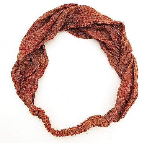 Brown Cotton Mantra Headband