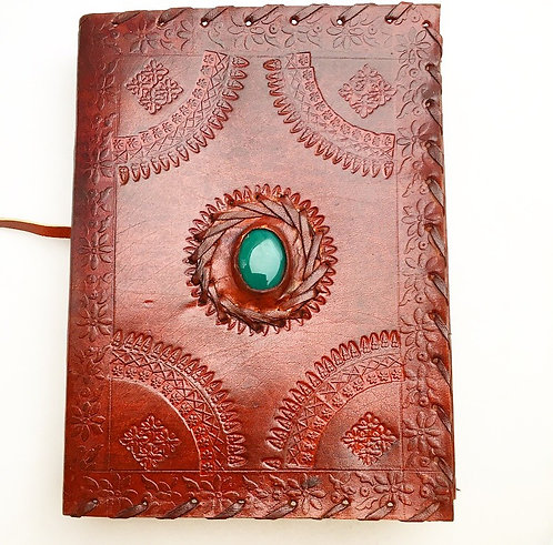 Forest Green Wrap Leather Journal