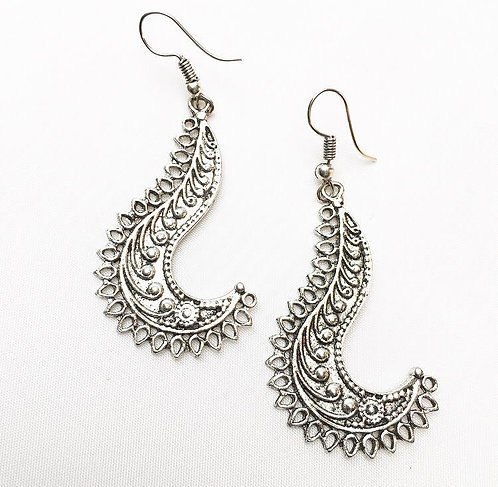 Barred Silver Earrings