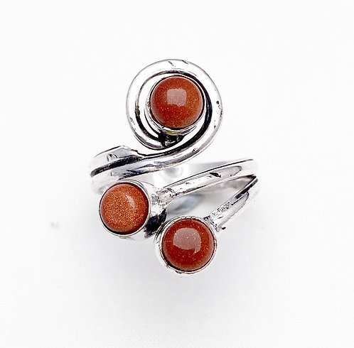 Goldstone Sarpil Ring