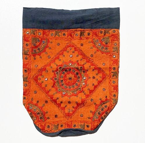 Burnt Orange Embroidered Backpack