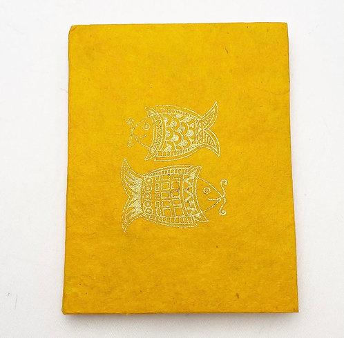 Orange Fish Symbol Notebook