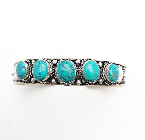 5 Turquoise Stone Bracelet