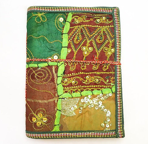 Large Green Sari Journal