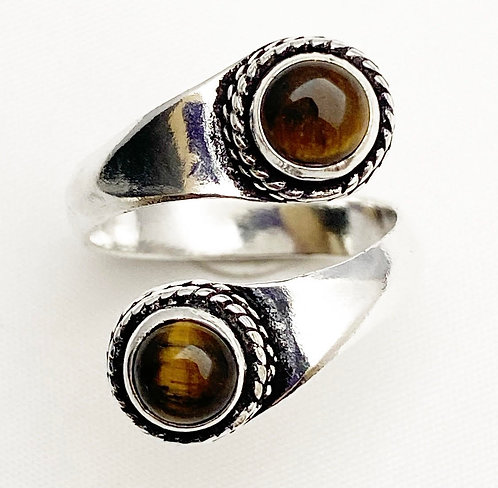 Tigers Eye Twist Ring