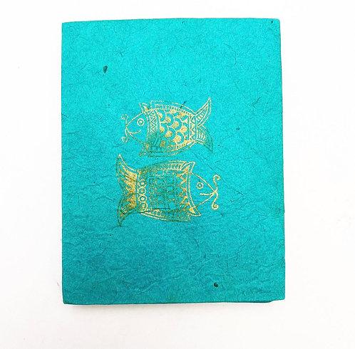 Turquoise Fish Symbol Notebook