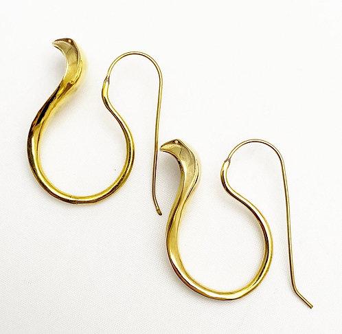 Querim Brass Earrings