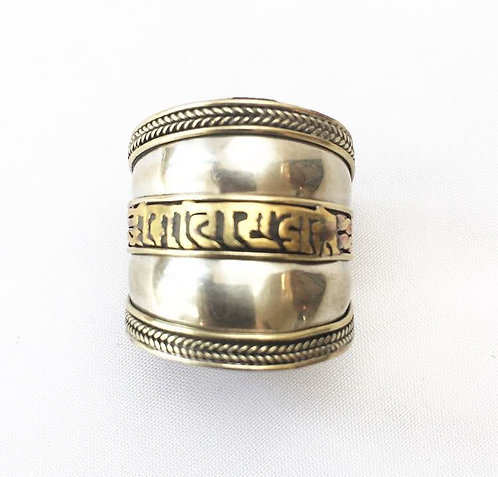 Double Sided Mantra Ring