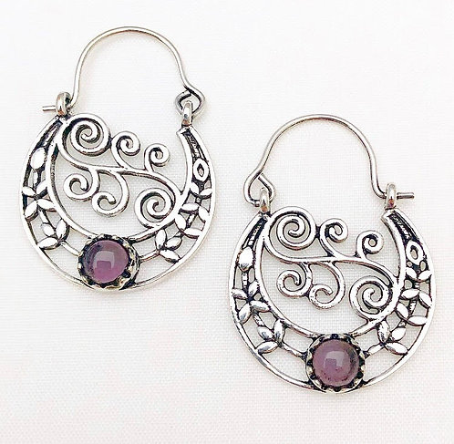 Amethyst Chamelee Earrings