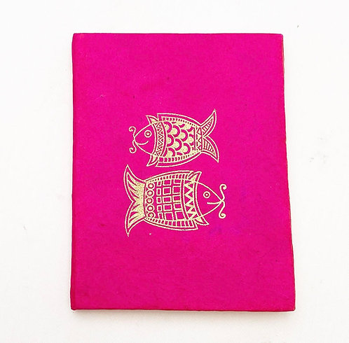 Fuchsia Fish Symbol Notebook
