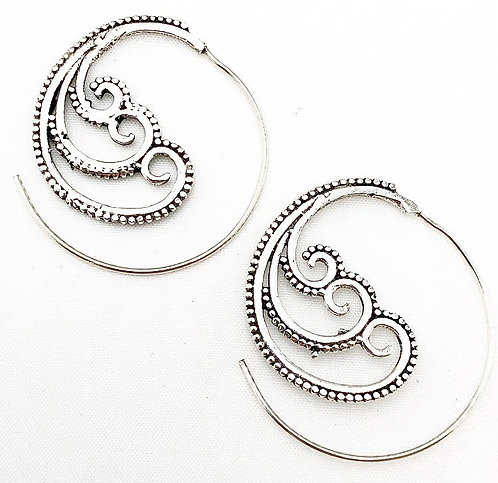 Baga Silver Earrings