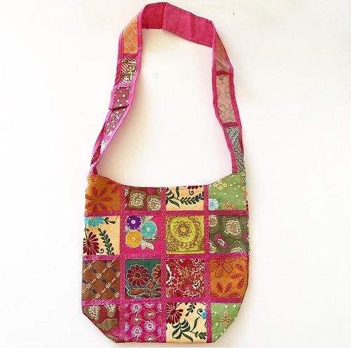 Mumbai Sari Slouch Bag