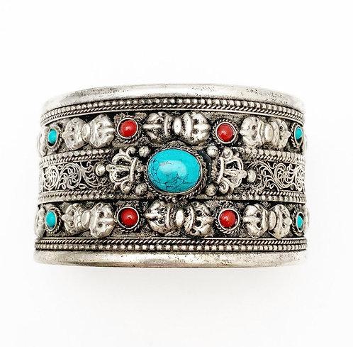 Turquoise Dorje Cuff