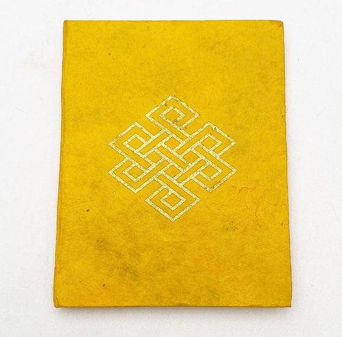 Orange Endless Knot Symbol Notebook