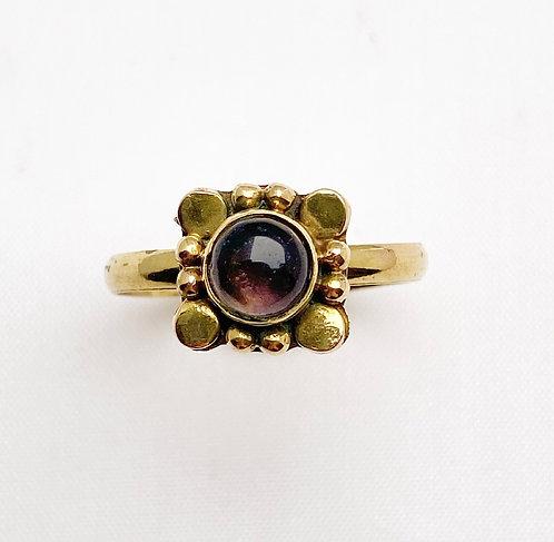Amethyst Brass Varg Ring