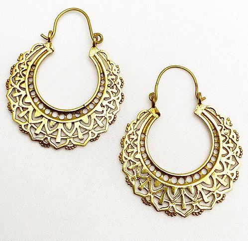 Cola Brass Earrings