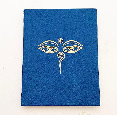 Navy Buddha's Eyes Symbol Notebook