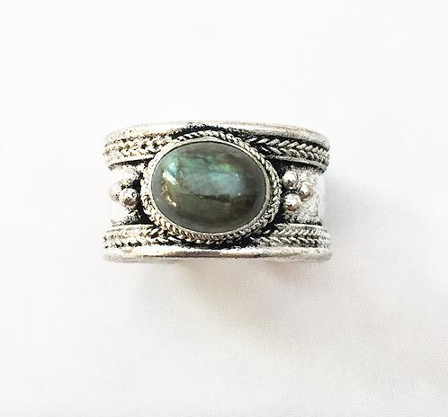 Small Labradorite Tibetan Ring