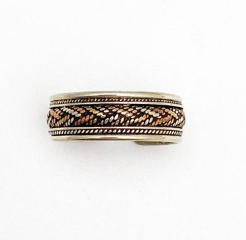 Mix Metal Weave Ring